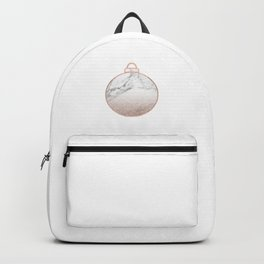 Rose gold Christmas bauble II Backpack