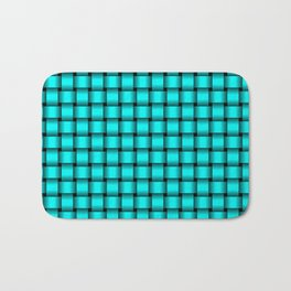 Small Cyan Weave Bath Mat