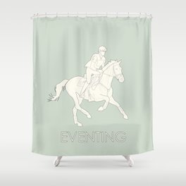Eventing in green Shower Curtain