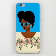 Postcard Woman Blue iPhone & iPod Skin