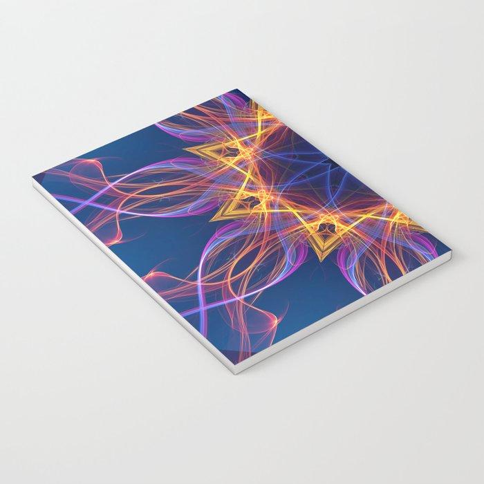 Neon Lights Star Notebook
