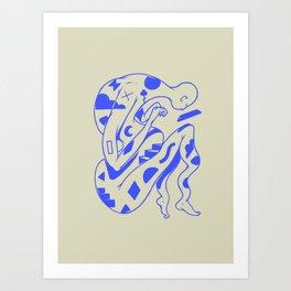 Azurium Art Print