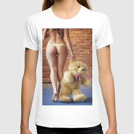 Lingerie and Teddy bear T-shirt
