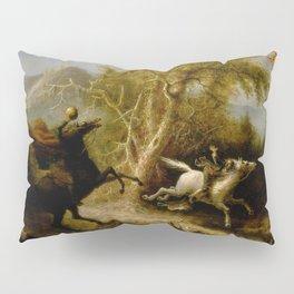 John Quidor Legend of Sleepy Hollow Headless Horseman Pursuing Ichabod Crane 1858 Pillow Sham