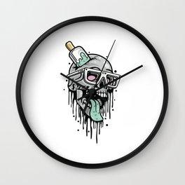 Comic - Skull Cool Fun - bright Wall Clock
