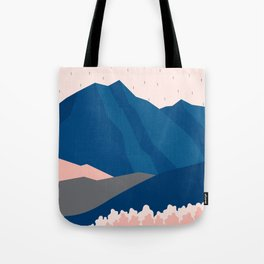 Mt Cook New Zealand Geometric Mountain Art Tote Bag