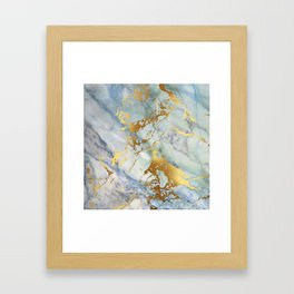 Lovely Marble with Gold Overlay Framed Art Print