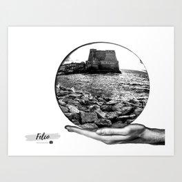 Castel dell' Ovo Napoli Art Print