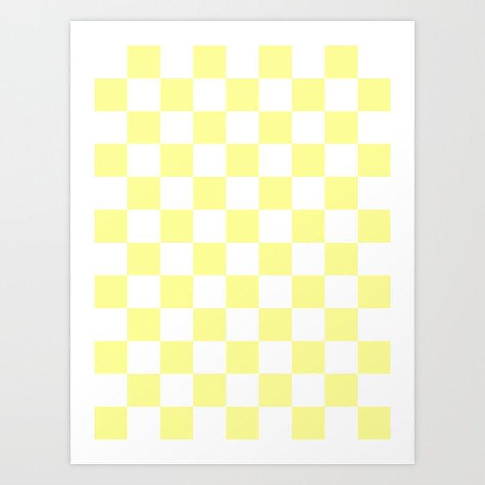 White and Pastel Yellow Art Print