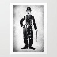 charlie chaplin Art Prints featuring Charlie Chaplin by Ayse Deniz