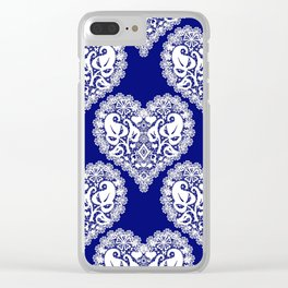 Lace heart 2 Clear iPhone Case