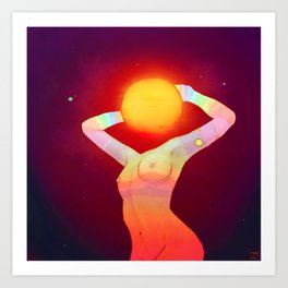 Sun Head Art Print