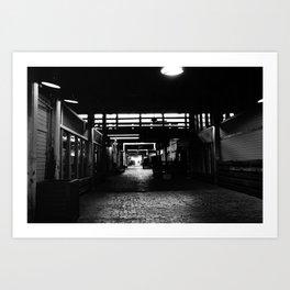 Hall of the bricks  Art Print
