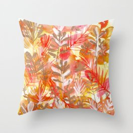 Leaves Texture 01 Throw Pillow