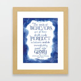 The Souls of Believers Framed Art Print