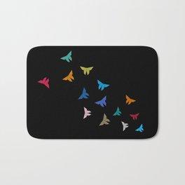 Flying Origami Butterflies Bath Mat