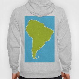 South America map blue ocean and green continent. Vector illustration Hoody