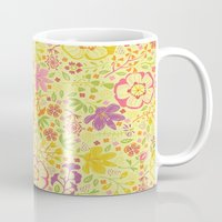 oriental Mugs featuring Oriental Blooms by Poppy & Red
