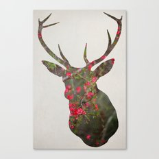 Deer With Quince Canvas Print