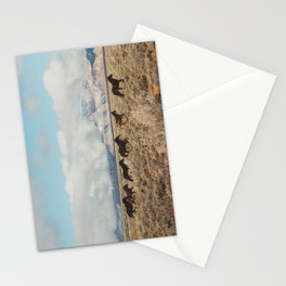 Running Reservation Horses Stationery Cards