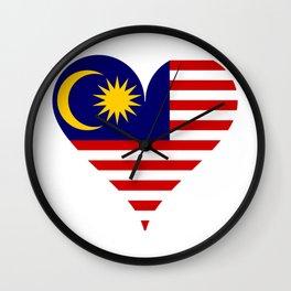 South east asia flag Wall Clock