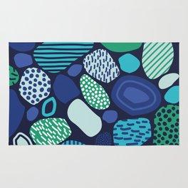 Confused Mosaic in Navy Rug