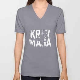 Krav Maga Israeli Martial Arts Self Defense System Unisex V-Neck