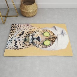 Leopard in a Towel Rug