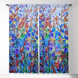 Absract Flowerscape Painting Blackout Curtain