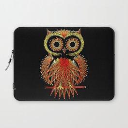 String Art Owl Laptop Sleeve