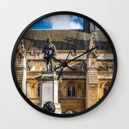 Oliver Cromwell Statue London Wall Clock