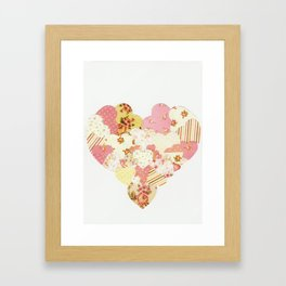 patchwork heart Framed Art Print