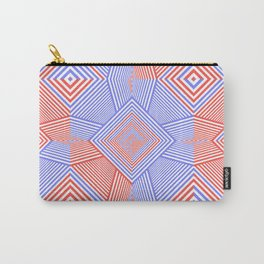 Colorful Blue And Red Geometric Shape Pattern Carry-All Pouch