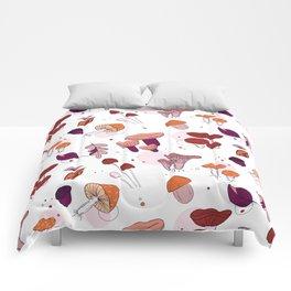 Mushrooms leaves Comforters
