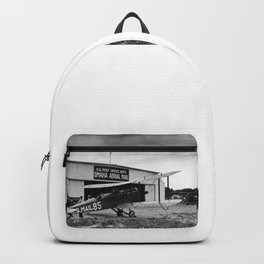 Omaha airfield airplain hangar america 1940s usa transportation Backpack