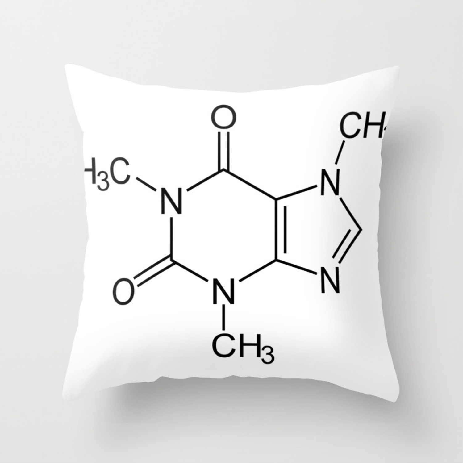 Caffeine Molecule Throw Pillow By Theteemachine Society6