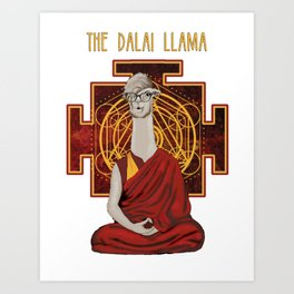 The Dalai Llama Art Print