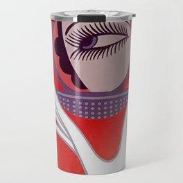 """Art Deco Design """"Compact - Vanities"""" Travel Mug"""