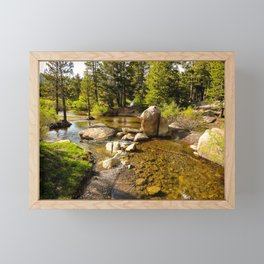 Creek at Silver Lake, Eldorado National Forest Framed Mini Art Print
