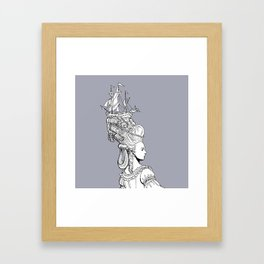Girl With Ship Framed Art Print