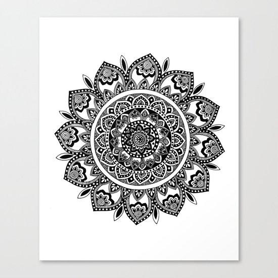 Bora Bora Mandala Canvas Print