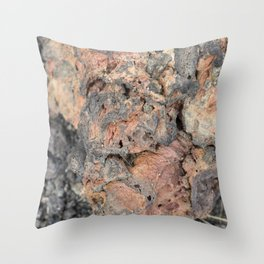 Iceland Rocks: Red Rhyolite Edition Throw Pillow