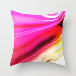 Abstract Agate Pink Throw Pillow