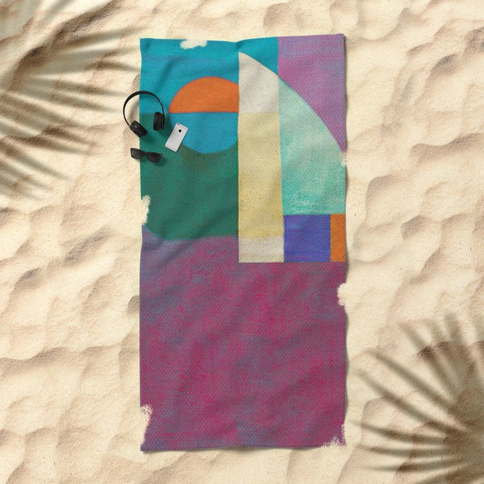 Una Regata Colorata Beach Towel