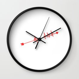 """Grab This Eye-Catching Shirt """"Heartbeat Archery"""" Perfectly Made For Archers Hunters T-shirt Design Wall Clock"""
