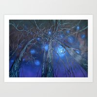 Winter Blues Art Print