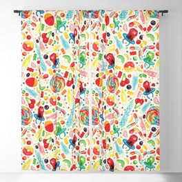 Candy Pattern - White Blackout Curtain