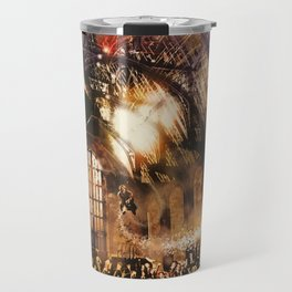Fred and George Weasley Flying in Hogwarts Great Hall Travel Mug
