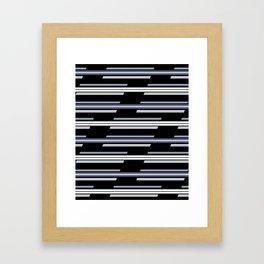 Skewed Stripes Pattern Design Framed Art Print
