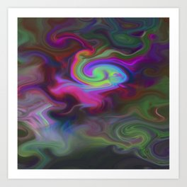 Turbulence - Midnight flower Art Print